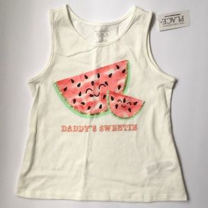 NWT C.Place 3T Daddy's Sweetie watermelon tank